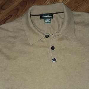 Eddie Bauer Men's 3 Button Pullover Sweater sizeXL